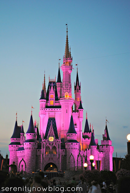 Magic Kingdom Castle at Sunset, Serenity Now blog
