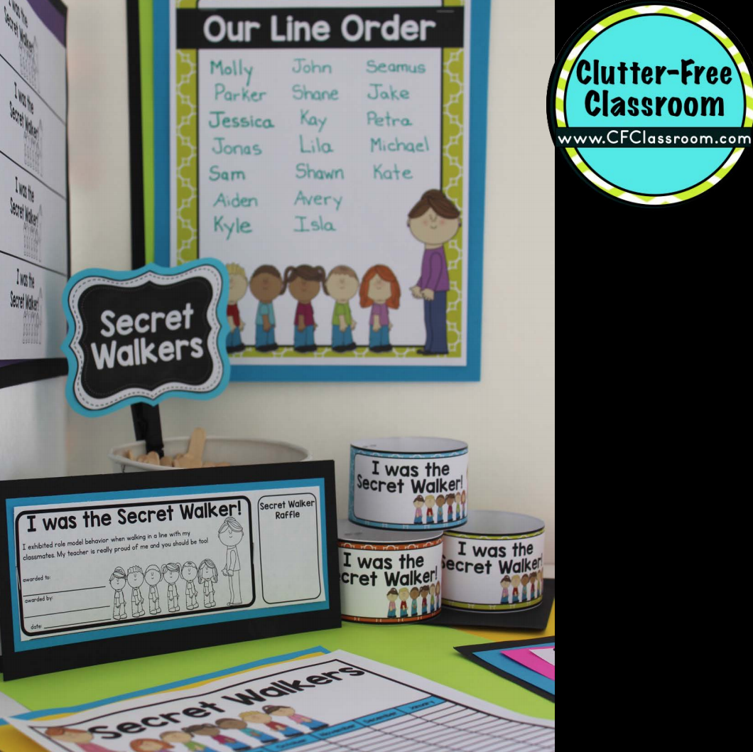 Classroom Line Up Ideas ~ How to line up a class walking students in