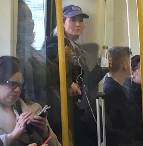 Renee Zellweger se pasea en publico