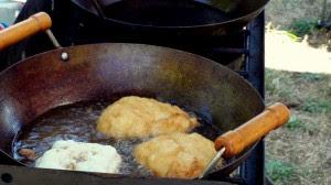 Bannock deep frying