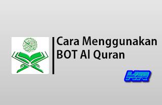 Cara menggunakan BOT Quran dari QuranChat di Whatsapp, Telegram dan Lne