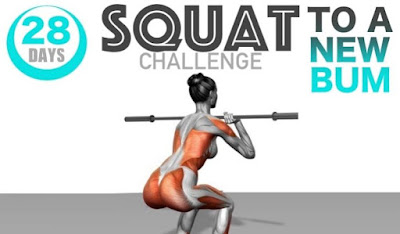 28 Day Squat Challenge To Curve And Shape Your Booty Into A Sensational Size And Shape!