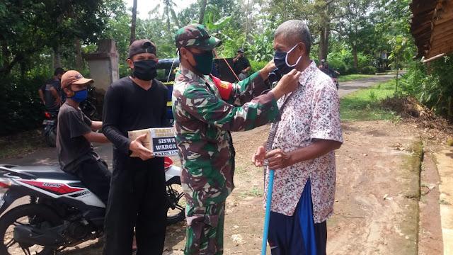 KodimKaranganyar - Cegah Corona, Babinsa Jatiwarno Himbau  Agar Warga Taati Peraturan Pemerintah