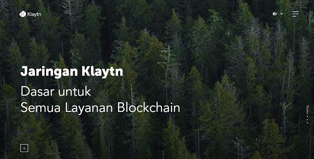 Screenshot Website Klaytn (KLAY) Cryptocurrency