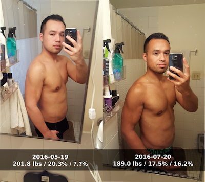 Before and after photos 60 days into keto diet - side