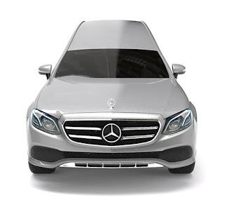 Vue avant corbillard limousine Mercedes Benz