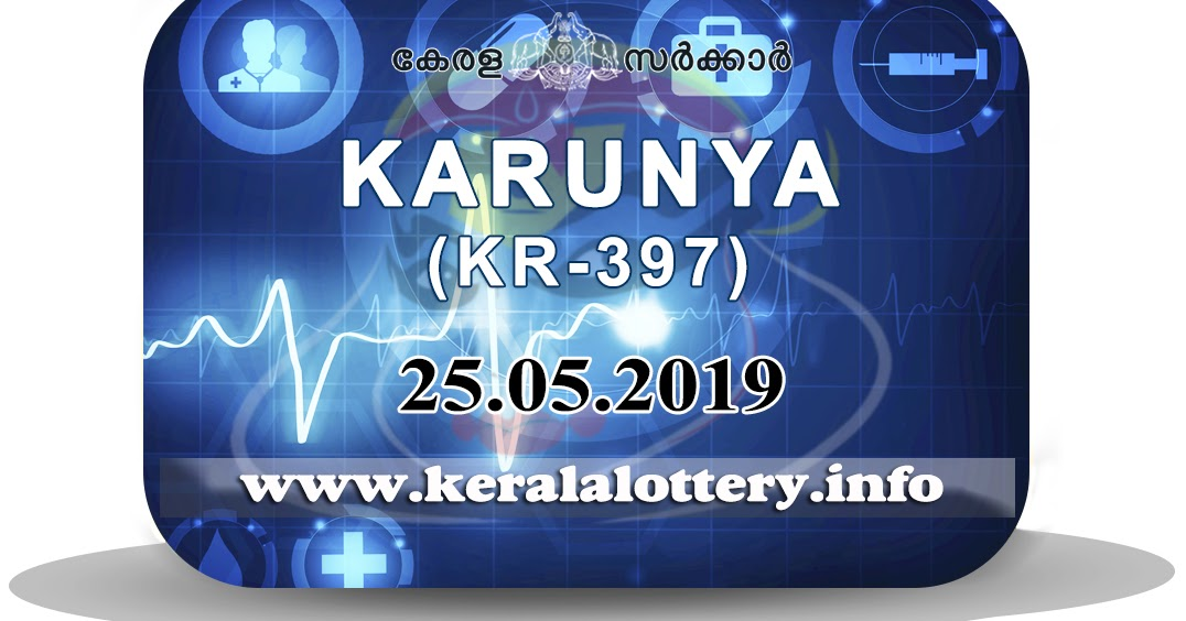 Kerala Lottery Results Today 25-05-2019 LIVE: Karunya KR