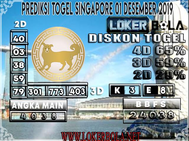 PREDIKSI TOGEL SINGAPORE LOKERBOLA 01 DESEMBER  2019