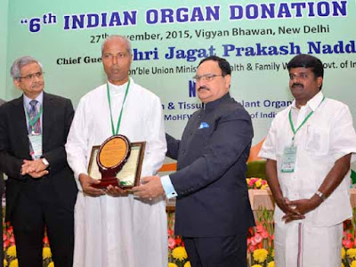 J P Nadda, Union Health Minister J P Nadda, donate organs to save lives, 6th Indian Organ Donation Day, National Organ and Tissue Transplant Organization, NOTTO