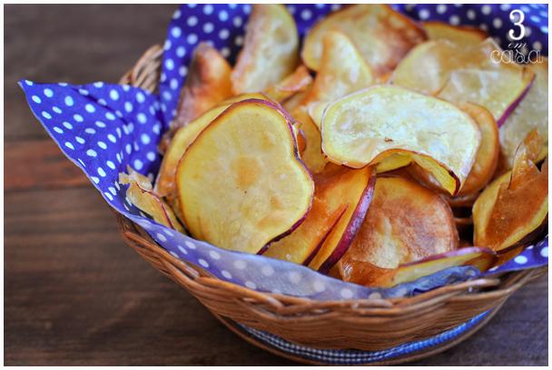 chips batata doce como fazer