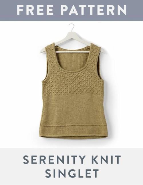 Serenity Knit Singlet - Free Pattern