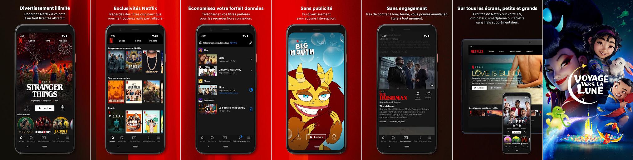 لقطات شاشة لتطبيق نتفليكس Netflix 2021