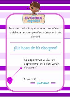 Invitación de la Doctora Juguetes
