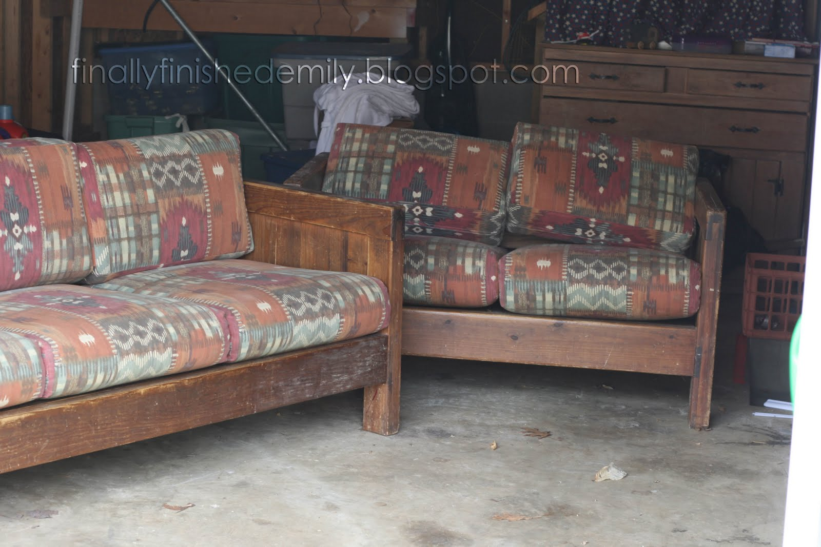 Finally Finished Old Brown Couch