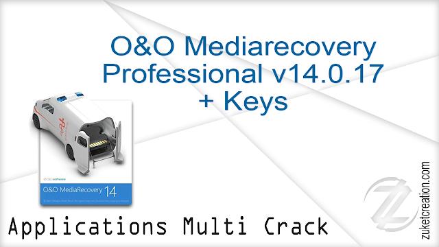 O&O Mediarecovery Professional v14.0.17 + Keys   |  20 MB