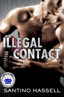 romance novel covers, M/M romance, contemporary romance, sports romance, Royal Pick, Illegal Contact by Santino Hassell