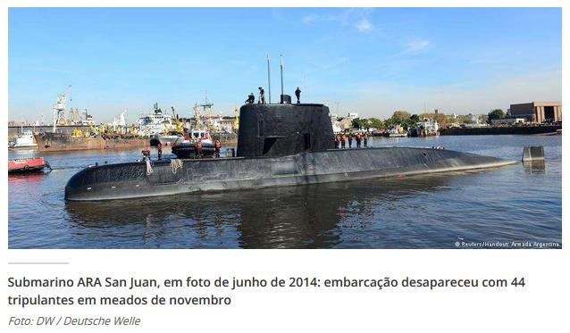 LOST: Argentina faz buscas na Marinha e em empresa alemã ligada ao submarino ARA San Juan