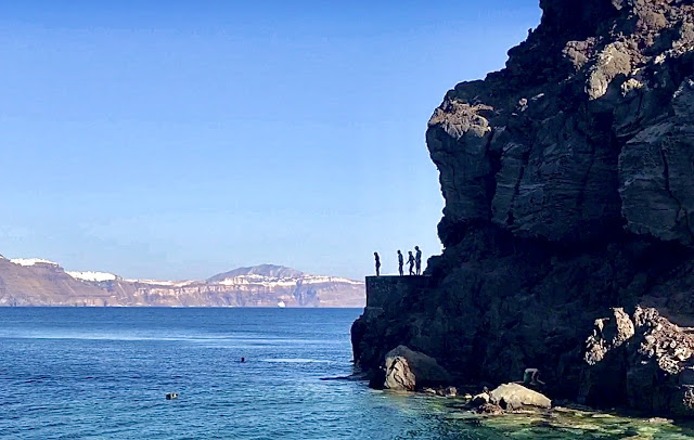 Cliff Diving at Amoundi Bay is Free in Greece - Our Budget Itinerary