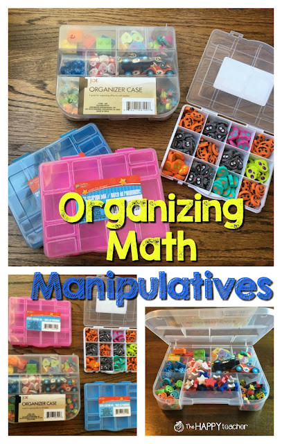 Easy and inexpensive way to organize math manipulatives