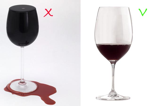 da410ad6a Enchi demais a taça!!! Vinho não é igual a cerveja que você enche até o  talo! E não é porque cabe muito vinho na taça (mais de 600ml para a maioria  ...