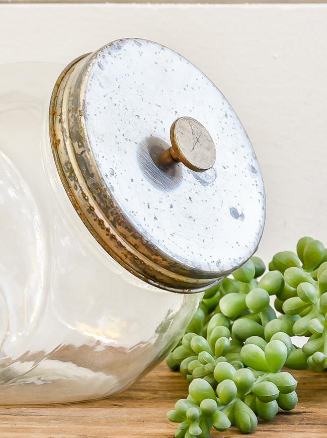 DIY industrial Dollar Tree storage jars