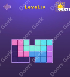 Cheats, Solutions, Walkthrough for Move Blocks Easy Level 29