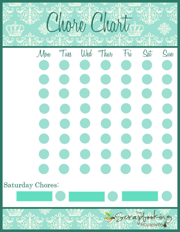 Kids Chore Chart, Organizing with Kids, Free Printable Chore Chart by Ellabella Designs