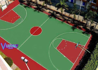 Contoh Gambar Lapangan Bola Basket Outdoor (Luar Ruangan)