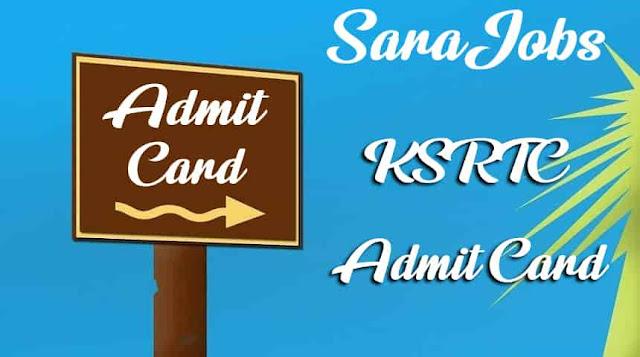 KSRTC Admit Card