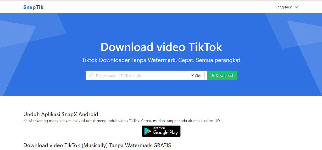 snaptik tiktok downloader