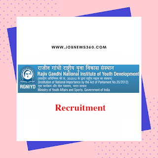 RGNIYD Recruitment 2019 for Faculty posts (9 Vacancies)