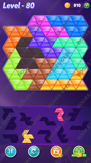 Block! Triangle Puzzle Master Level 80 Solution, Cheats, Walkthrough for Android, iPhone, iPad and iPod
