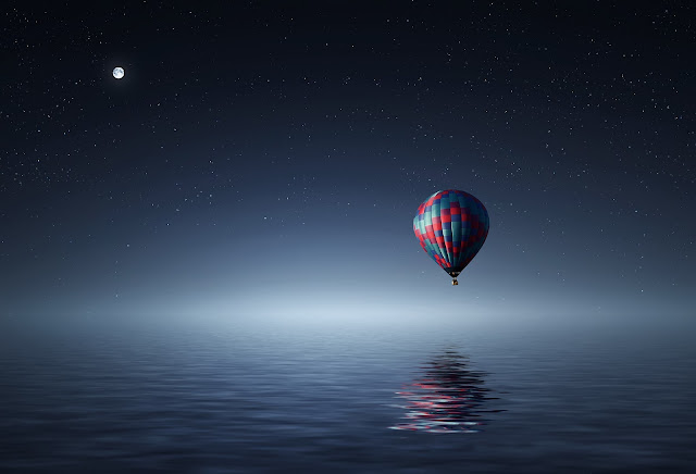 Balloon Freedom Fly Good Night HD Wallpaper