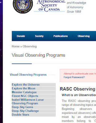 locked out of the RASC web site