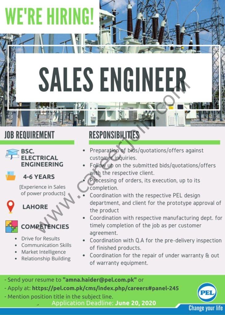 Amna.haider@pel.com.pk - Pak Elektron Ltd PEL Jobs 2021 in Pakistan