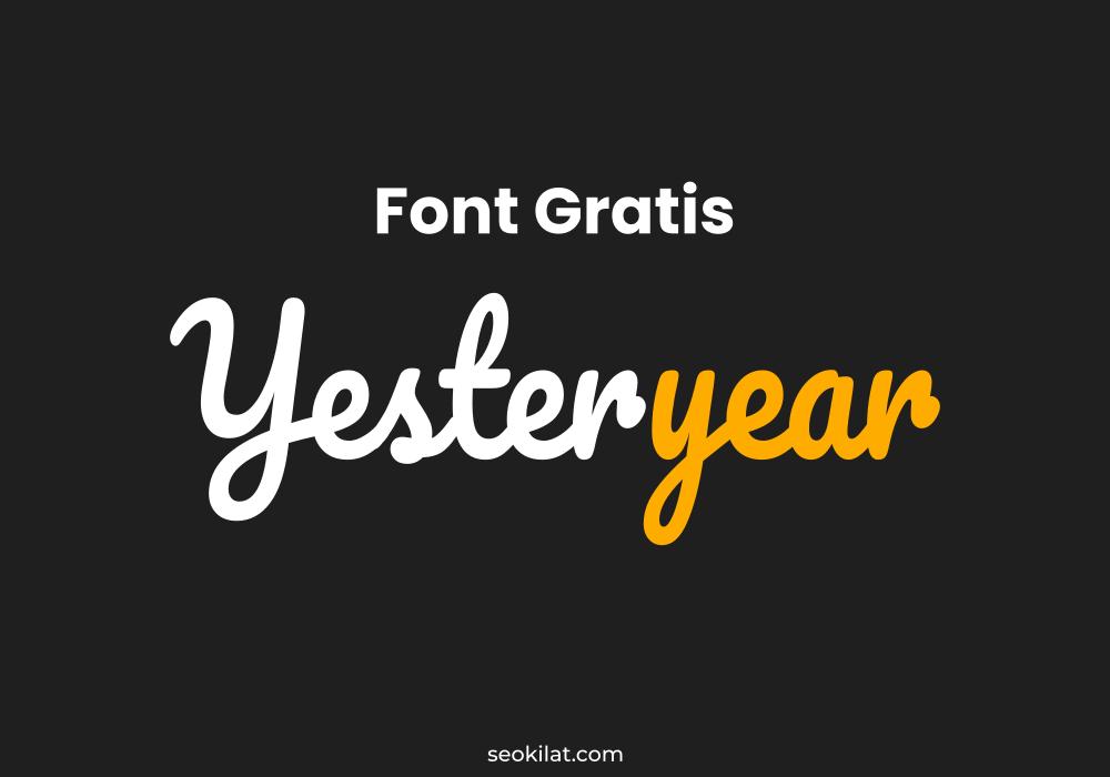Font Gratis untuk Komersial
