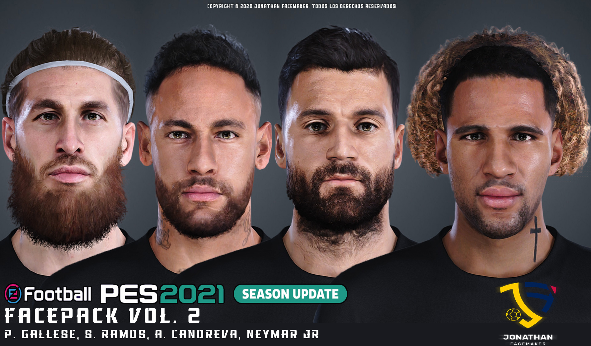 PES 2021 Facepack Vol.2 by Jonathan Facemaker