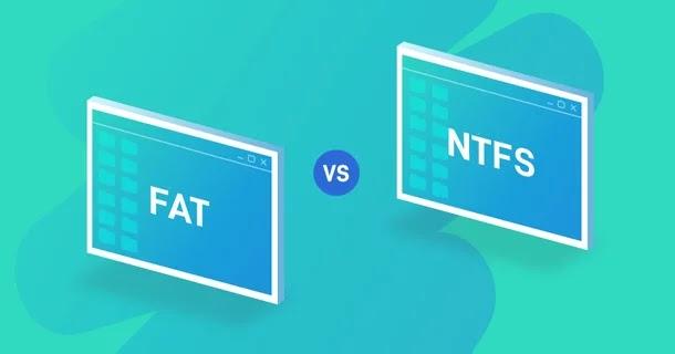 ما هو الفرق بين أنواع فورمات NTFS وFAT32 وFAT