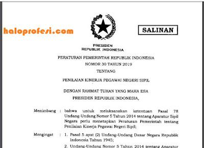 yang menjelaskan perihal evaluasi kinerja Pegawai Negeri Sipil  K13 : POLA BARU PENYUSUNAN SKP PNS/ASN Berdasar PP Nomor 30 Tahun 2019