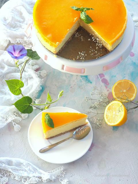 mango sernik pieczony