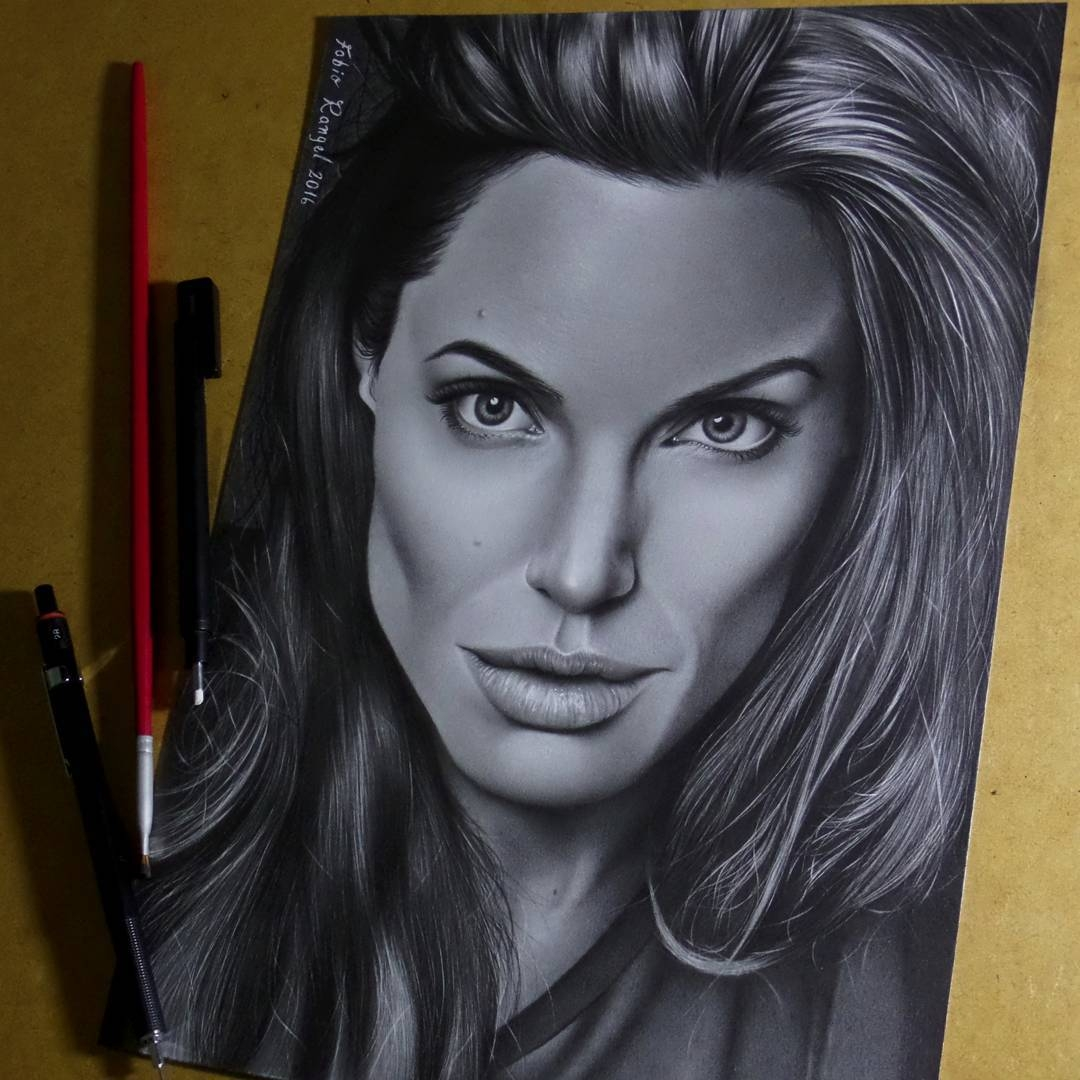 17-Angelina-Jolie-Fabio-Rangel-Drawings-of-Protagonists-from-TV-and-Movies-www-designstack-co