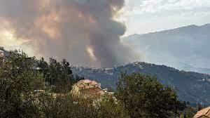 wildfires burn throughout Algeria