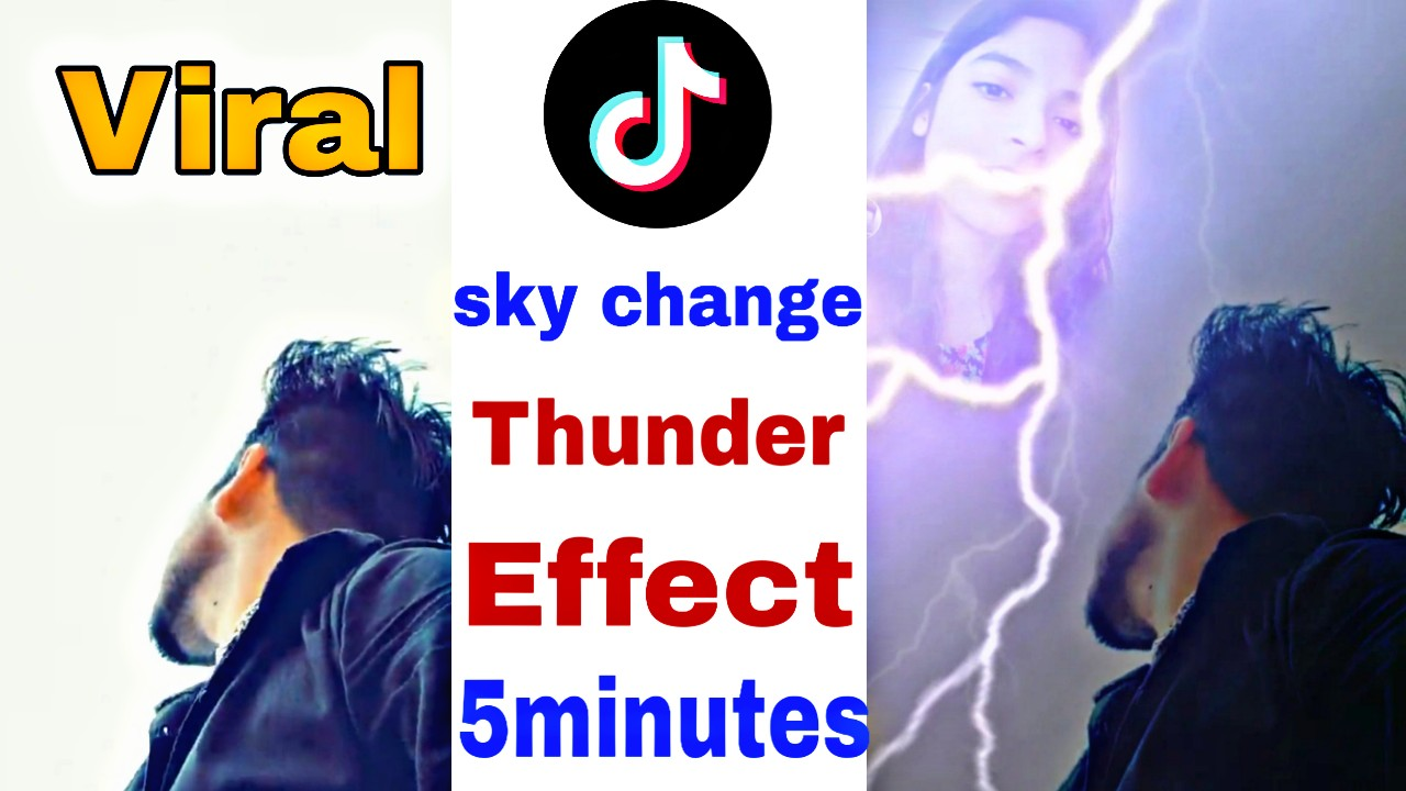 How to make thunder bijli effect on video Tiktok Tutorial