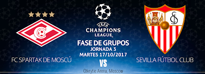 Previa Spartak de Moscú - Sevilla FC