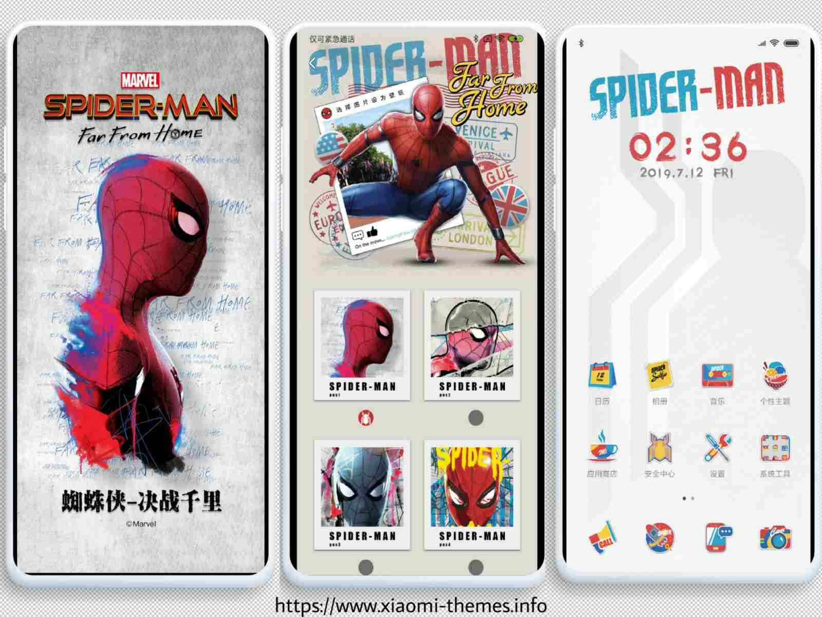 Spiderman far from home Third party MiUi theme in Mtz download