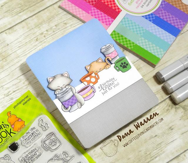 Dana Warren - Kraft Paper Stamps - Newton's Nook Designs - Coffee