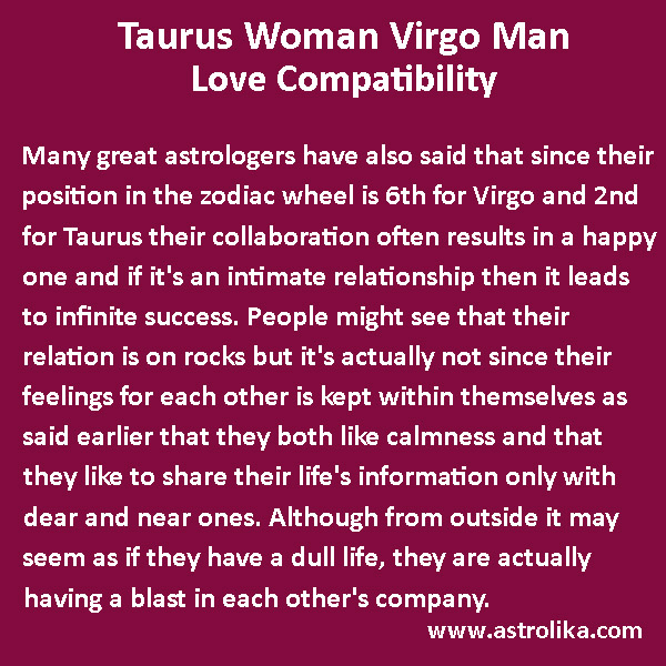 Virgo taurus astrology compatibility sagittarius