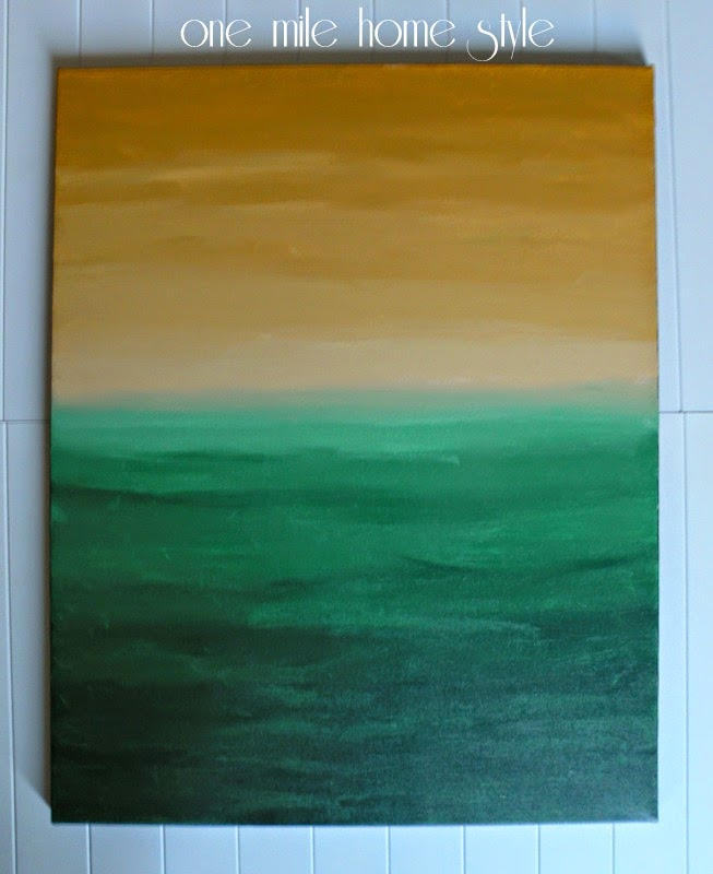 Gold and Green painting