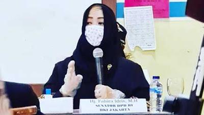 PTM Terbatas, Fahira Idris Minta Pastikan Siswa Pakai Masker dengan Benar