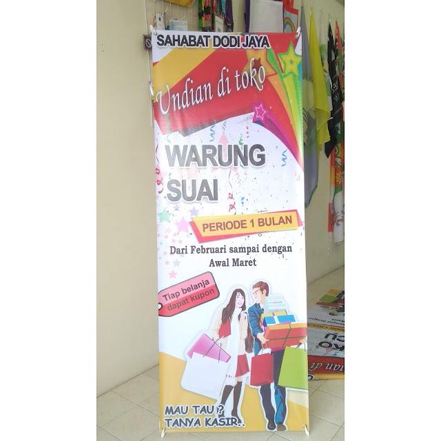X Banner Undian Toko Warung Suai